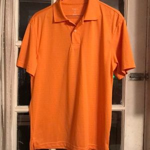 Orange lightweight short sleeve polo